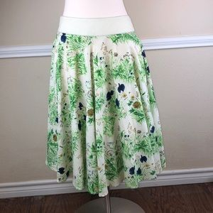 Viola floral field dandelion linen/cotton skirt